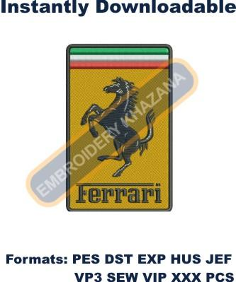 Embroidery download Ferrari Logo embroidery design